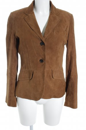 Bonnie Leather Blazer light brown elegant