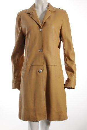 Bonnie Ledermantel beige Vintage-Look