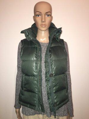 Bonnie s small Weste Daune kuschelig leicht warm matt glänzend Glanz grün Outdoor ärmellos Winter