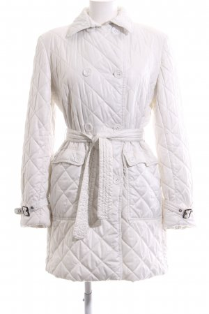 Bonnie Quilted Coat white quilting pattern business style