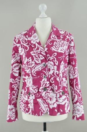 Bonprix Blazer mit Blumenmuster pink Größe 42