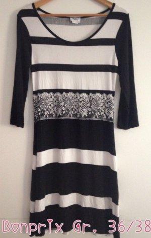 b.p.c. Bonprix Collection Abito jersey bianco-nero