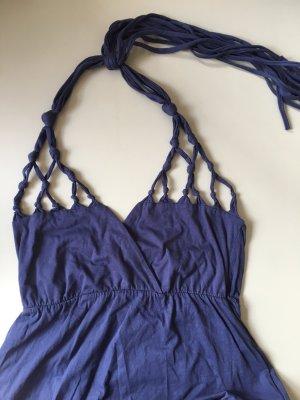 Bonprix Jungstil Sommerkleid blau Gr. 36/38 Neckholder