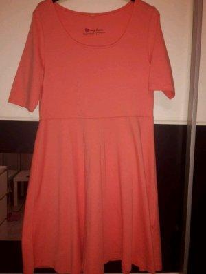 b.p.c. Bonprix Collection Robe en jersey rose chair-orange