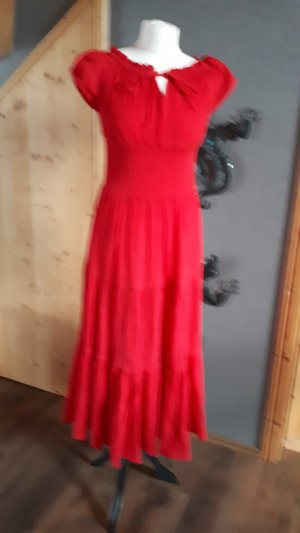 Maxi Dress red cotton