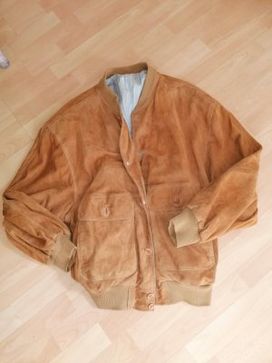 American Vintage Veste en cuir chameau