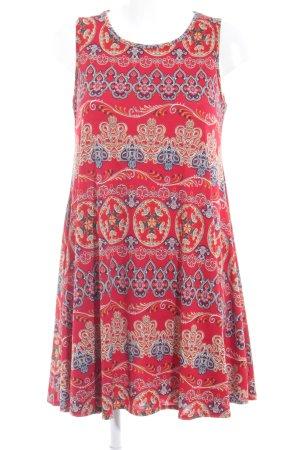 Boohoo A-Linien Kleid Ornamentenmuster Casual-Look
