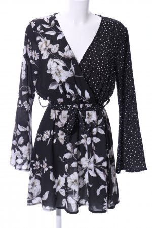 Boohoo Blouse Dress flower pattern beach look