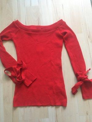 Boohoo Carmen shirt rood-baksteenrood