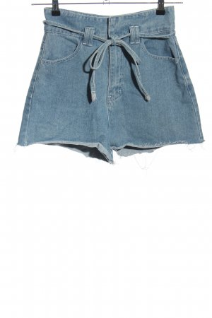 Boohoo High-Waist-Shorts blau Casual-Look