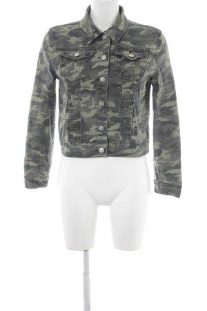 Boohoo Jeansjacke Camouflagemuster Military-Look