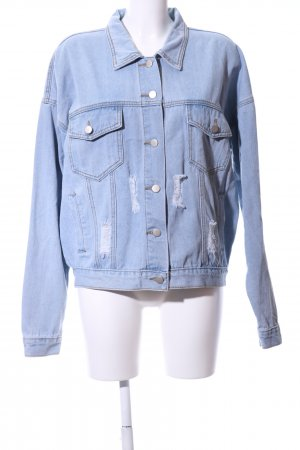 Boohoo Denim Jacket placed print street-fashion look