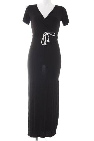 Boohoo Jerseykleid schwarz sportlicher Stil