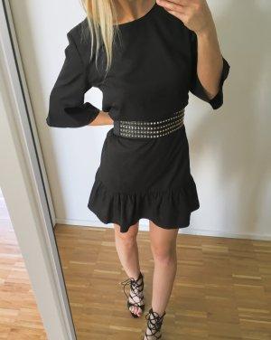 Boohoo Volante jurk zwart