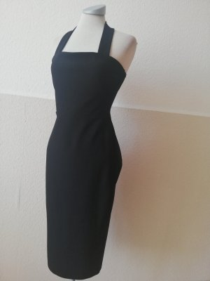 Boohoo Vestido de cuello Halter negro