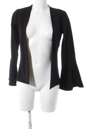 Boohoo Korte blazer zwart extravagante stijl