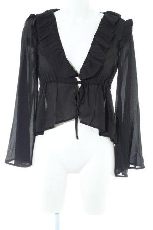 Boohoo Langarm-Bluse schwarz Casual-Look