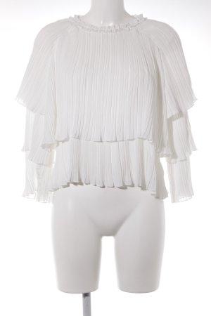 Boohoo Langarm-Bluse weiß Elegant