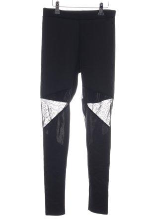 Boohoo Leggings schwarz-weiß Casual-Look