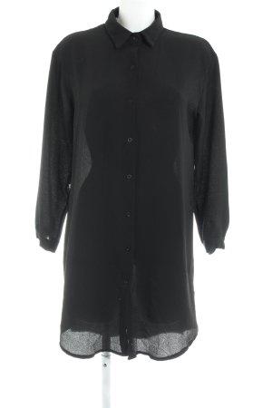 Boohoo Lange blouse zwart casual uitstraling
