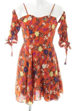 Boohoo Minikleid florales Muster Gypsy-Look