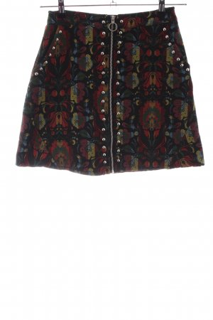Boohoo Miniskirt flower pattern casual look