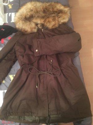 Boohoo Plus Winterjacke Khaki / Braun