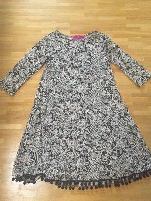 Boohoo Pompom Alinien Kleid XS 32 34