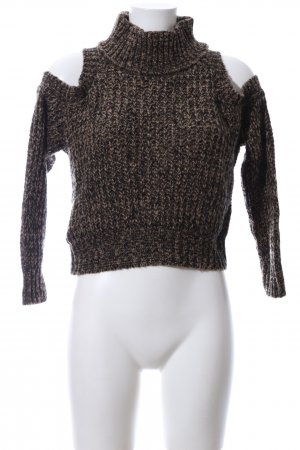 Boohoo Crewneck Sweater black-brown flecked casual look