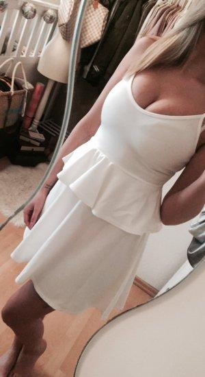 Boohoo Schößchen Kleid Peplum Dress NEU Gr.S