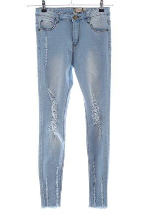 Boohoo Skinny Jeans blau Casual-Look