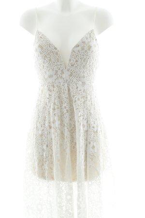 Boohoo Spitzenkleid weiß-beige Elegant
