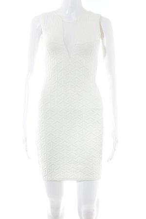 Boohoo Vestido elástico blanco estampado con diseño abstracto estilo fiesta