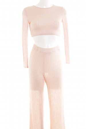 Boohoo Knitted Twin Set pink casual look