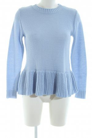 Boohoo Strickpullover blau Casual-Look