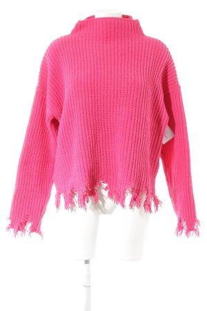Boohoo Gebreide trui neonroos straat-mode uitstraling