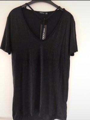 Boohoo T-shirt jurk zwart