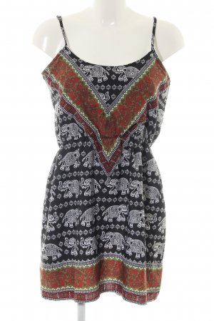 Boohoo Pinafore dress abstract pattern casual look