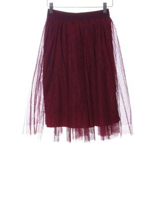 Boohoo Tulle Skirt red elegant