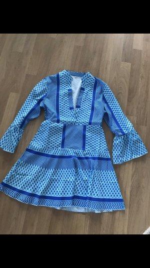 Vestido tipo blusón azul-azul neón