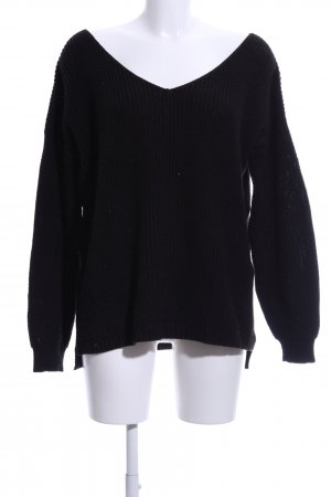 Boohoo V-Neck Sweater black casual look