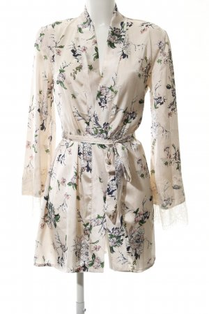 Boohoo Wraparound Jacket floral pattern wet-look