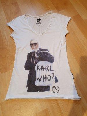 Boom bap Print Shirt white-anthracite
