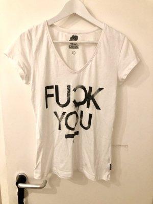 Boom bap V-Neck Shirt black-white