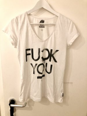 Boom Bap Fuck You Shirt Motiv Motto Print schwarz weiß Top S M 36 38