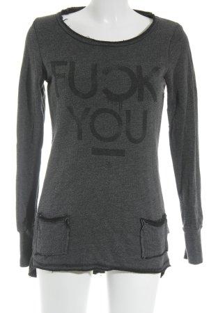 Boom bap Sweatshirt anthrazit meliert Casual-Look