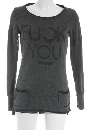 Boom bap Sweat Shirt anthracite flecked casual look