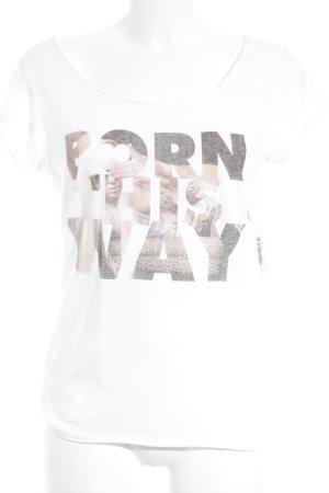 Boom bap T-Shirt weiß-nude Motivdruck sportlicher Stil