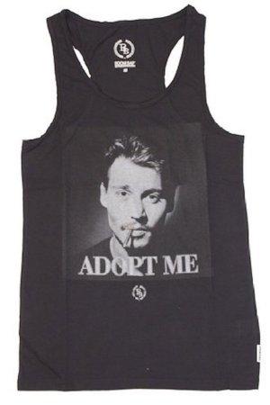 BOOM BAP Vintage Print Tank-Top Shirt ADOPT ME Johnny Depp NEU