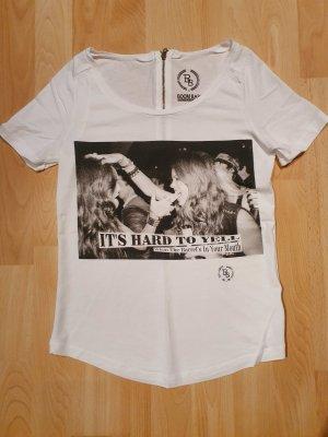 Boom bap Print Shirt white-black